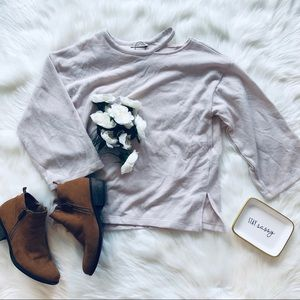 Zara TRF | Beige Knit Top